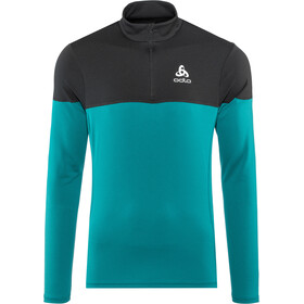 Odlo Core Light 1/2 Zip Midlayer Herren blue coral-black